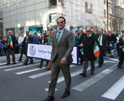 The New York City Council Delegation marching lead by Council Official Edgar Moya