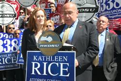 RWDSU President Stuart Appelbaum Announcing the Endorsement of D.A. Rice