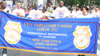 Teamster's Local 237 President, Gregory Floyd and Members