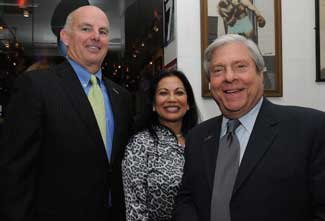 Tom Canty, Vice President and General Manager for Empire BlueCross BlueShield; Linda Chase, board member of the Camp Brooklyn Fund and Marty Markowitz, founder of Camp Brooklyn