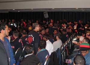 Standing room only for Local 100