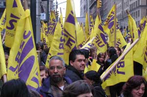 32BJ members gather for rally