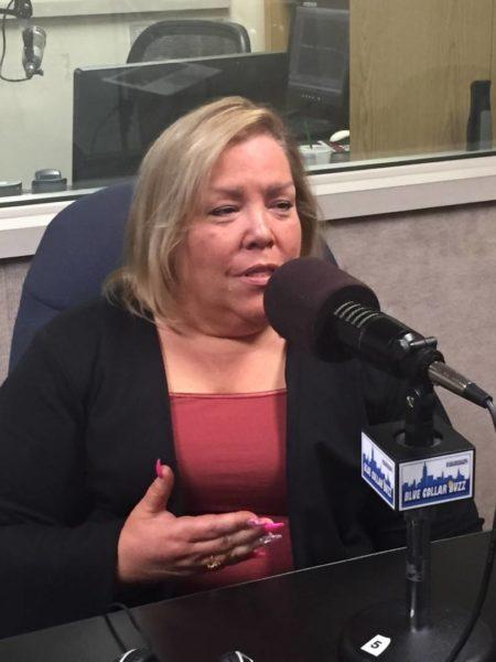 DC1707 Executive Director Kim Medina during a 2018 episode of LP's Blue Collar Buzz podcast.