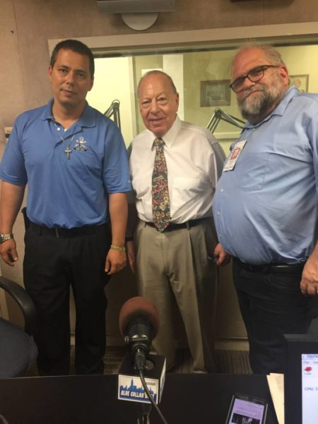 Local 78 Business Manager Johann Garcia (l) with Neal Tepel and Bob Hennelly.
