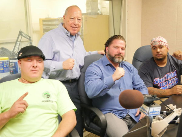 LP's Neal Tepel (standing) with (l to r) #CountMeIn Movement's Brian Houser, Bernard Callegari and Marvin Tavarez.