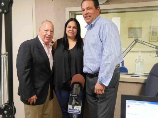 LP Publisher Neal Tepel with Local 338's Yomaira Franqui and Mike Pasquaretta.