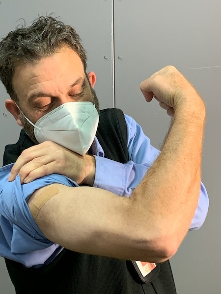 TWU Local 100 Members Roll Up Their Sleeves for COVID Vaccinations